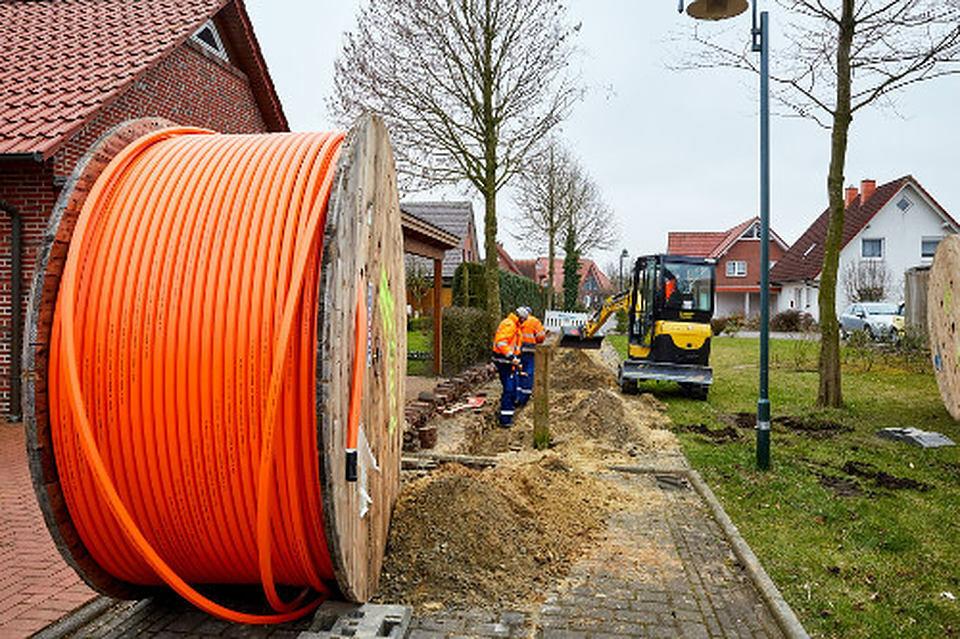 Entrada de edificio para cable de fibra de vidrio