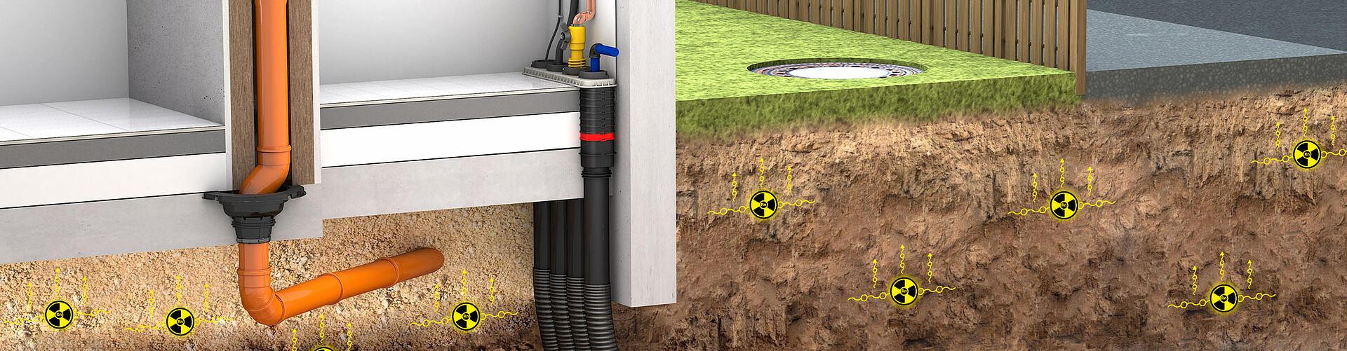 Costruzione sicura con il radon.