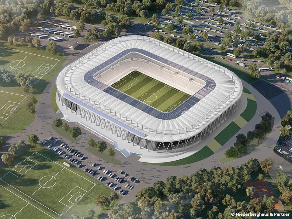 Neubau des Karlsruher Wildpark Stadion